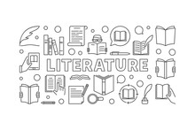 Literature Horizontal Vector M...
