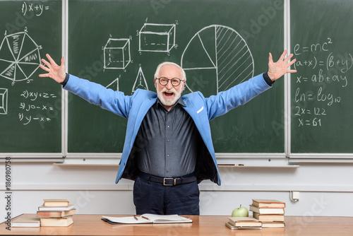 Senior confident man working Canvas