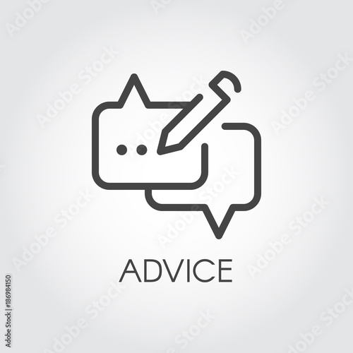 Advice thin line icon Canvas Print