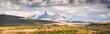 Peru, snowy mountains in Huaraz, Panoramic view