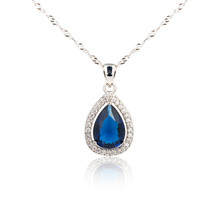 Sapphire Pendant Isolated On W...