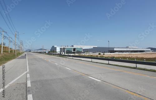 Foto op Plexiglas Motorsport new factory,new industrial building on a trading estate