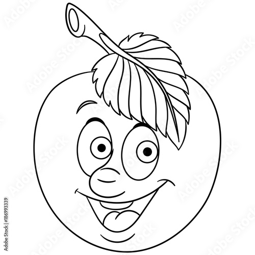 happy apple coloring pages - photo#37