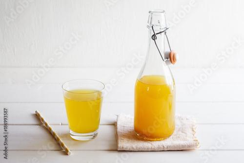 Lemonade with ginger and curcuma