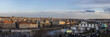 Czech Republic, Prague, panoramic city view with river Vltava and Charles Bridge