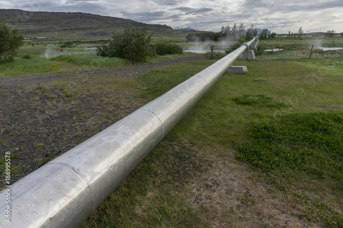 Iceland, geothermal pipeline