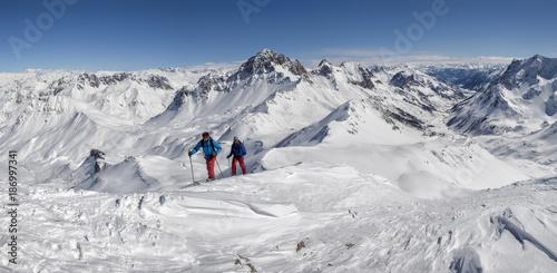 France, Isere, Les Deux Alps, Pic du Galibier, ski mountaineering