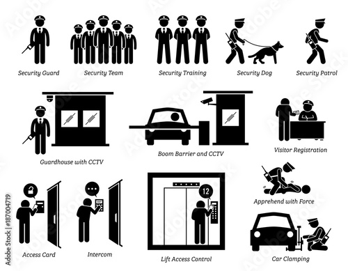 Photo Security Guards Icons