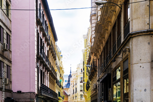 Aluminium Prints Sydney street view of downtown madrid, The city has a population of almost 3.2 million