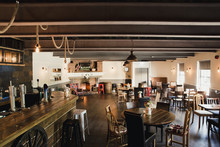 Empty British Pub