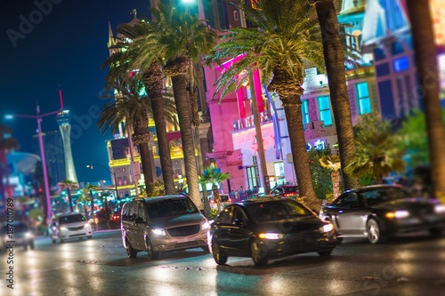 Photo sur Toile Las Vegas Streets of Las Vegas Nevada
