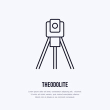 Theodolite On Tripod. Geologic...
