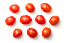 Pepper Cherry Tomatoes Isolated On White Background