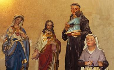 Altarfiguren in Calmeilles, Frankreich