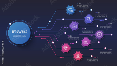 Vector 7 options infographic design, structure chart, presentation template.