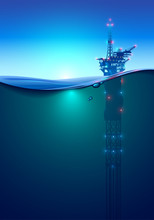 Oil Offshore Drilling Platform...