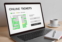 Online Tickets Concept On Mode...