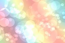 Bokeh En Dégradé Arc En Ciel Abstrait Fond Pastel .  Décoration Brillante Pour La Conception De Site Web, Bonne Année , Papier Peint , Carte Murale ,fond Photographie.