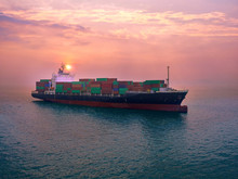 The Container Vessel  On Arriv...
