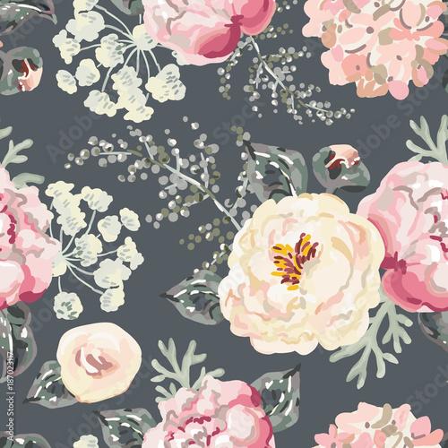 rozowe-piwonie-z-szarymi-liscmi-na-czarnym-tle-akwarela-wektor-wzor-romantyczna-ilustracja-kwiaty-ogrodowe