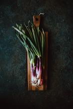 Purple Spring Onions