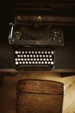 Vintage Typewriter From The Top