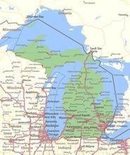 Michigan-US-States-VectorMap-A