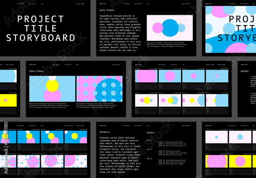 Abstract Storyboard Layout Buy This Stock Template And Explore