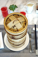 Stacked Bamboo Steamer Baskets...