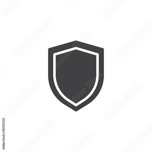 Fotografie, Obraz Shield protection icon vector, filled flat sign, solid pictogram isolated on white