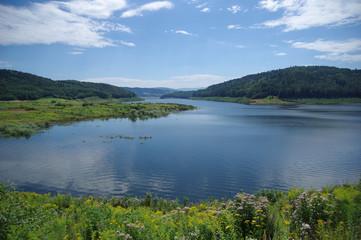 Summer on lake