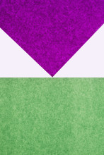 Detail Of Purple And Green Sheets Of Construction Paper