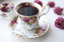 English Morning Tea Cup Rose