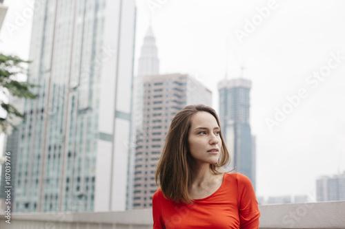 portrait of adult woman outdoor