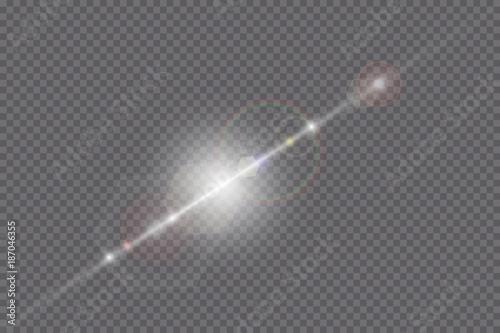 Photo Vector transparent sunlight special lens flare light effect