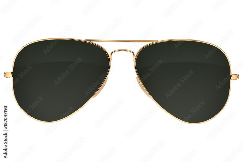 Fototapeta Aviator sunglasses isolated