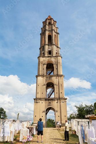 Surveillance tower of slaves of Manaca Iznaca sugar fabbica Slika na platnu