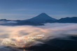 Mt.Fuji with sea of mist in summer