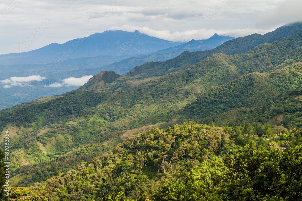 Fototapety, obrazy: View of mountains in Panama, Baru volcano in the background