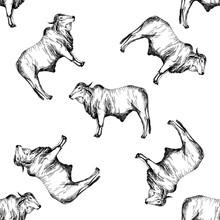 Seamless Pattern Of Hand Drawn...