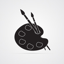 Silhouette Flat Icon, Simple V...