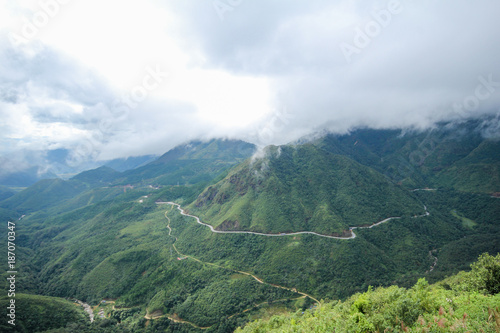 Foto op Aluminium Blauwe jeans Landscape View from the Tram Ton Pass, Sapa District, Lao Cai Province, Northwest Vietnam
