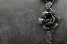 Antique Vintage Metal Flower Jewelry
