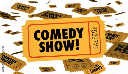Fotografija  Comedy Show Stand Up Ticket Admission 3d Illustration