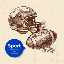 Hand Drawn Sport Object. Sketc...