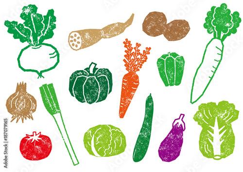 ハンコ風の野菜セット
