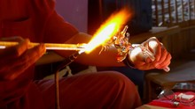 Close Up Glassblowing To Creat...