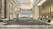 3d Rendering Luxury Hotel Rece...