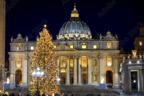 Vászonkép beautiful Rome at Christmas time
