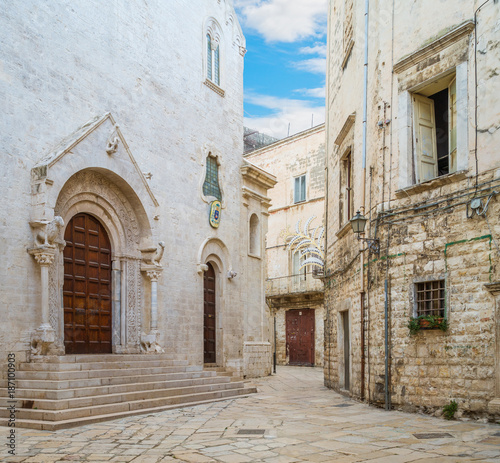 Bisceglie old town, in the province of Barletta-Andria-Trani, Apulia, southern Italy Wallpaper Mural